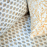Block Print Yellow Sepal King Size Cotton Double Bedsheet