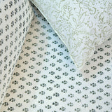 Block Print Grey Buds King Size Cotton Double Bedsheet