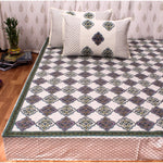 Jaal Print Cotton Double Bedsheet