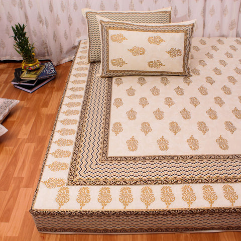 Block Print Cotton Double Bedsheet
