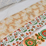 Mandala Gold Cotton Quilted Double Bed Cover (Comforter)