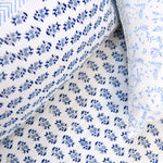 Block Print Blue Floral King Size Cotton Bedsheet