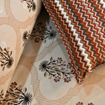 Super King Size Brown Mosaic Bed Sheet (108 x 108)