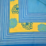Super King Size Blue Cotton Double Bed Sheet (108x108 inch)