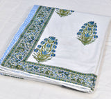 Blue Motifs Block Print Cotton Double Bed Dohar (AC Quilt)