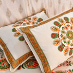 Orange Mandala King Size Cotton Double Bedsheet