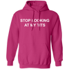 Stop Looking At My Tits Hoodie - NINONINE