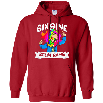 6ix9ine Hoodie - Red - Shipping Worldwide - NINONINE