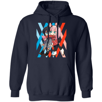 Darling In The Franxx Hoodie - Navy - Worldwide Shipping - NINONINE