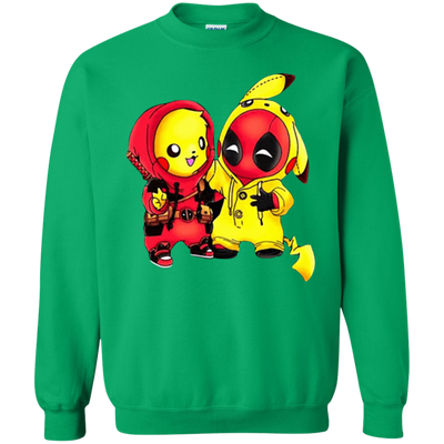 Pikachu Deadpool Sweater - Irish Green - Shipping Worldwide - NINONINE