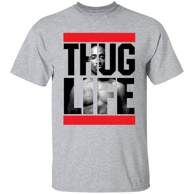 Thug Life 2pac Shirt - Sport Grey - Worldwide Shipping -  NINONINE