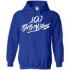 100 Thieves Hoodie - Royal - Shipping Worldwide - NINONINE
