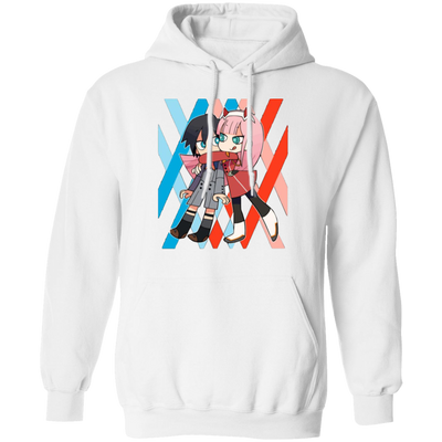 Darling In The Franxx Hoodie - White - Worldwide Shipping - NINONINE