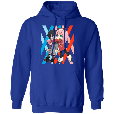Darling In The Franxx Hoodie - Royal - Worldwide Shipping - NINONINE