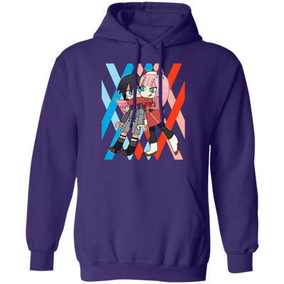 Darling In The Franxx Hoodie - Purple - Worldwide Shipping - NINONINE