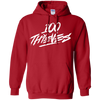 100 Thieves Hoodie - Red - Shipping Worldwide - NINONINE