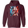 Darling In The Franxx Hoodie - Maroon - Worldwide Shipping - NINONINE