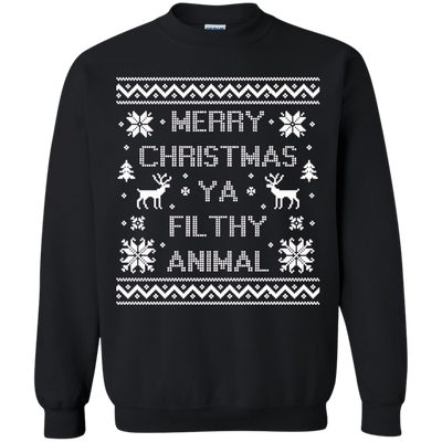 Merry Christmas Ya Filthy Animal Sweater - NINONINE