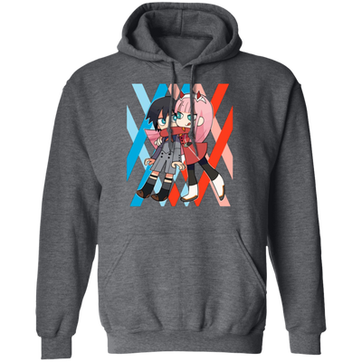 Darling In The Franxx Hoodie - Dark Heather - Worldwide Shipping - NINONINE