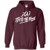 100 Thieves Hoodie - Maroon - Shipping Worldwide - NINONINE