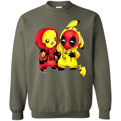Pikachu Deadpool Sweater - Military Green - Shipping Worldwide - NINONINE