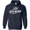 100 Thieves Hoodie - Navy - Shipping Worldwide - NINONINE