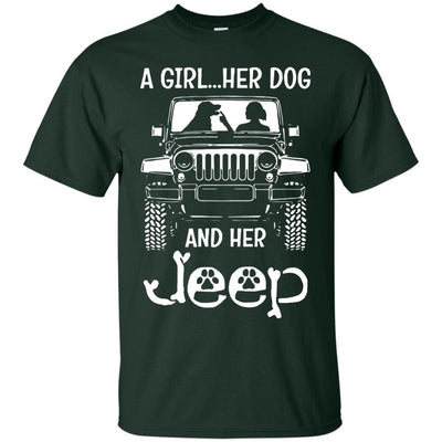 A Girl Her Dog And Her Jeep Shirt - NINONINE