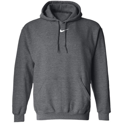 Center Swoosh Nike Hoodie - Dark Heather - NINONINE