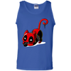 Deadpool Cat Tank Top Playing With Grenade - NINONINE