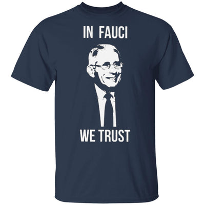 Fauci T Shirt Red Cross - Navy - NINONINE