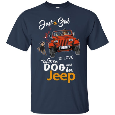 Just A Girl In Love With Her Dog And Her Jeep Shirt - NINONINE