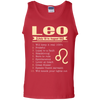 Leo Zodiac Signs August Birthday Tank Top - Shipping Worldwide - NINONINE