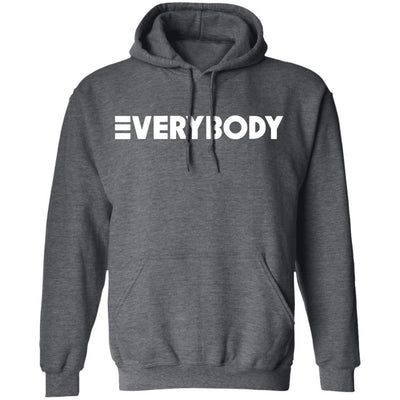 Logic Everybody Hoodie Dark - Dark Heather - NINONINE