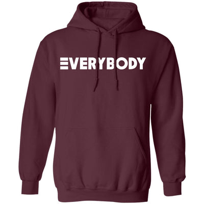 Logic Everybody Hoodie Dark - Maroon - NINONINE