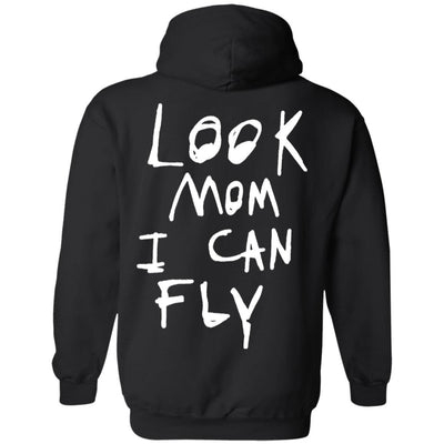 Look Mom I Can Fly Hoodie Dark - Black - NINONINE