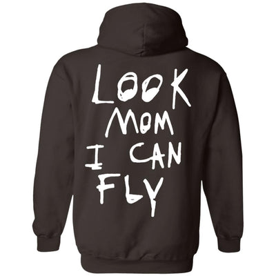 Look Mom I Can Fly Hoodie Dark - Dark Chocolate - NINONINE