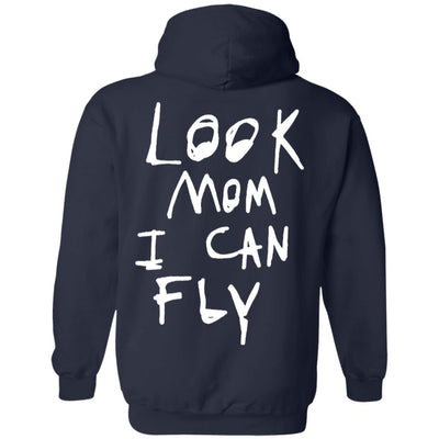 Look Mom I Can Fly Hoodie Dark - Navy - NINONINE