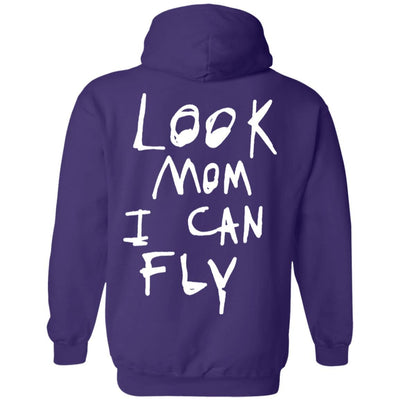 Look Mom I Can Fly Hoodie Dark - Purple - NINONINE
