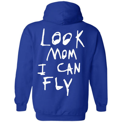 Look Mom I Can Fly Hoodie Dark - Royal - NINONINE