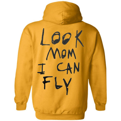 Look Mom I Can Fly Hoodie - Gold - NINONINE