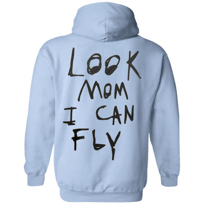 Look Mom I Can Fly Hoodie - Light Blue - NINONINE