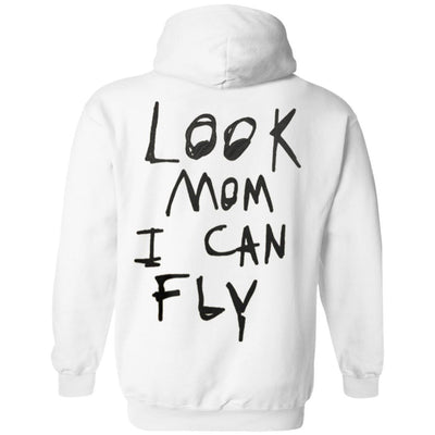 Look Mom I Can Fly Hoodie - White - NINONINE