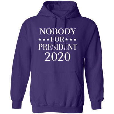 Nobody For President 2020 Hoodie - Purple - NINONINE