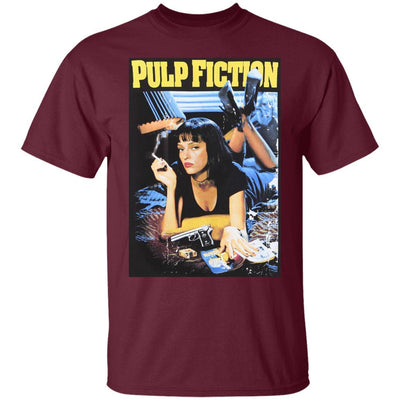 Pulp Fiction Shirt - Maroon - NINONINE