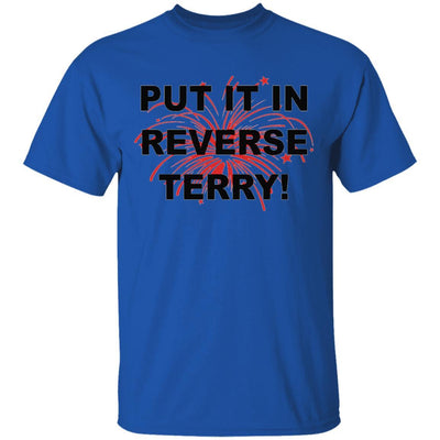 Put It In Reverse Terry Shirt - Royal - NINONINE