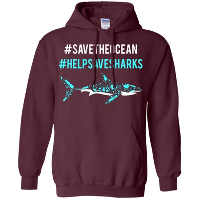 Save The Ocean Help Save Sharks Hoodie - NINONINE