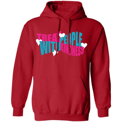 Treat People With Kindness Hoodie - Red - NINONINE