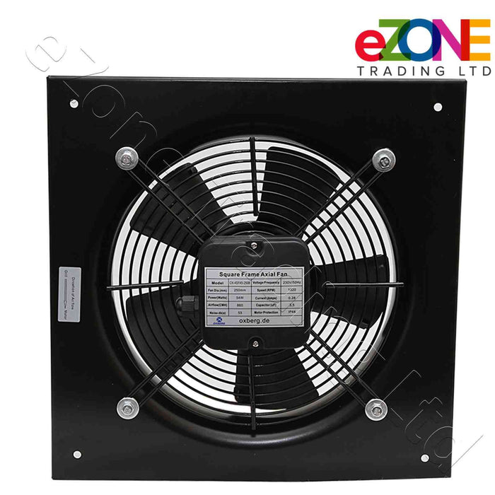 Industrial metal ventilation fan. 500mm Blade size in our Catering supplies collection