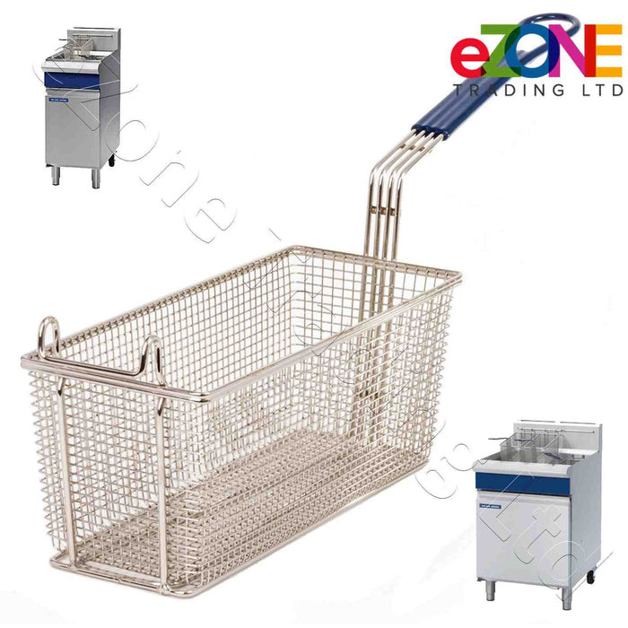 Heavy Duty Rectangular Chip Fish Basket for Anets Gas Deep Fat Fryers