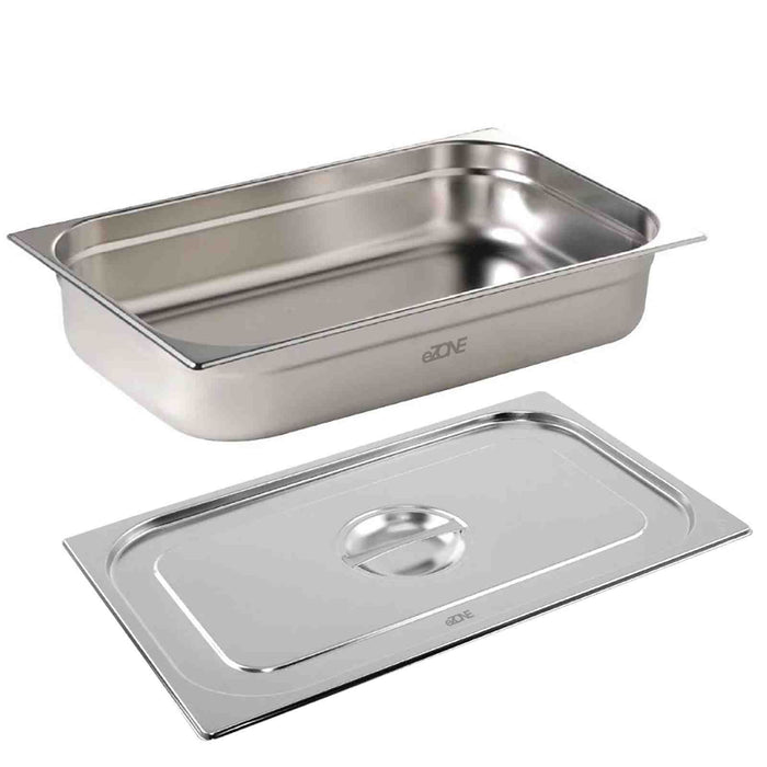Gastronorm & Lid 1/1 Size Stainless Steel Bain Marie Food Container Pan 65mm